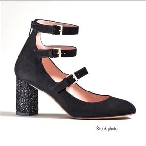 Like 🆕 KATE SPADE black suede - glitter shoes